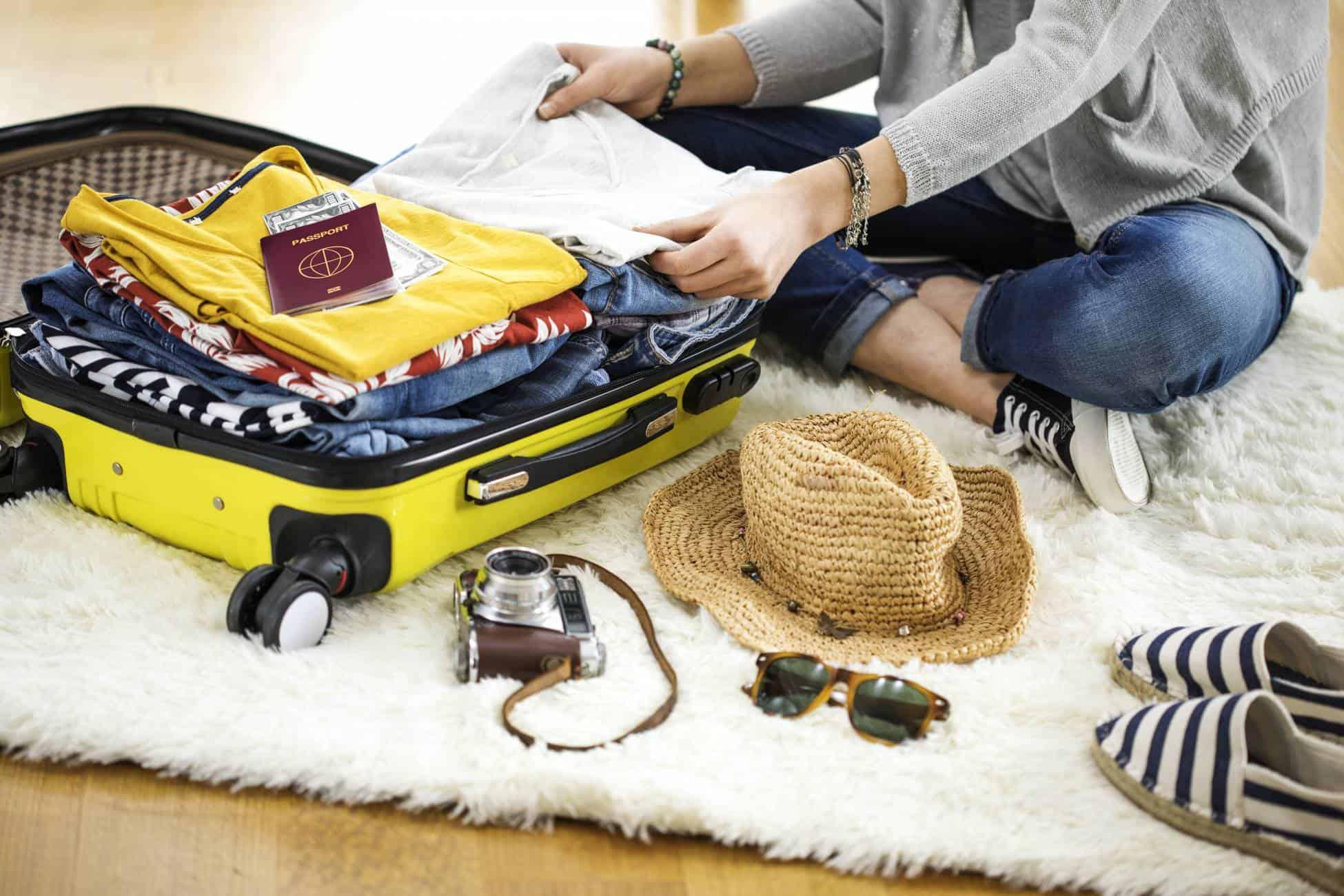 packing travel passport