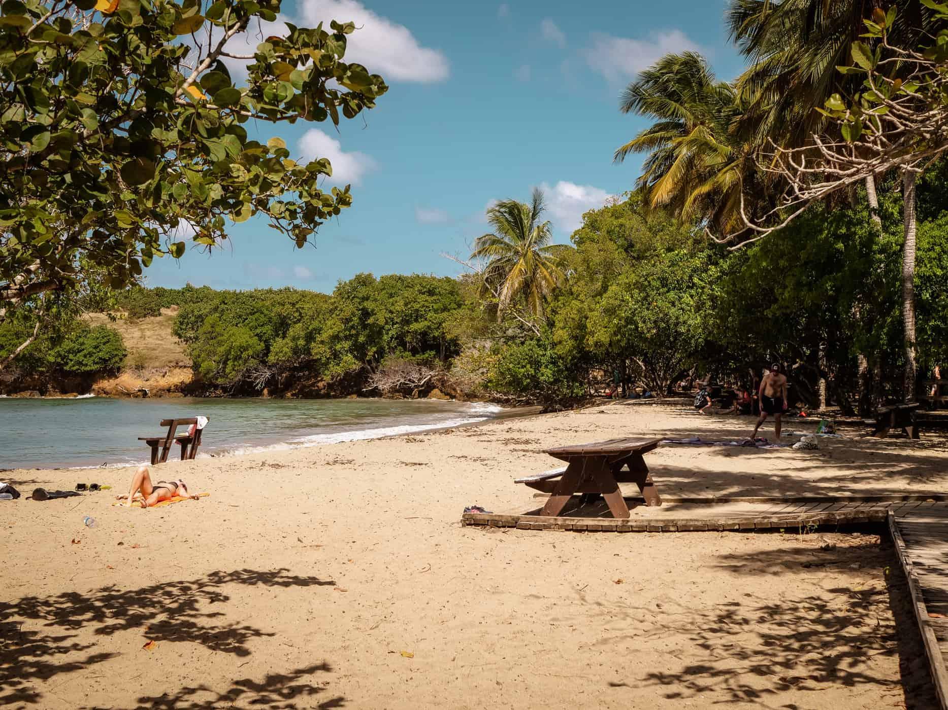 Plage de La Brèche, Martinik, Karibi