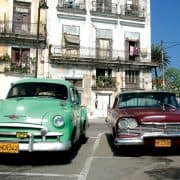Cuba old cars street