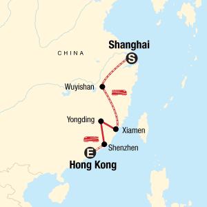 od Šanghaja do hong konga