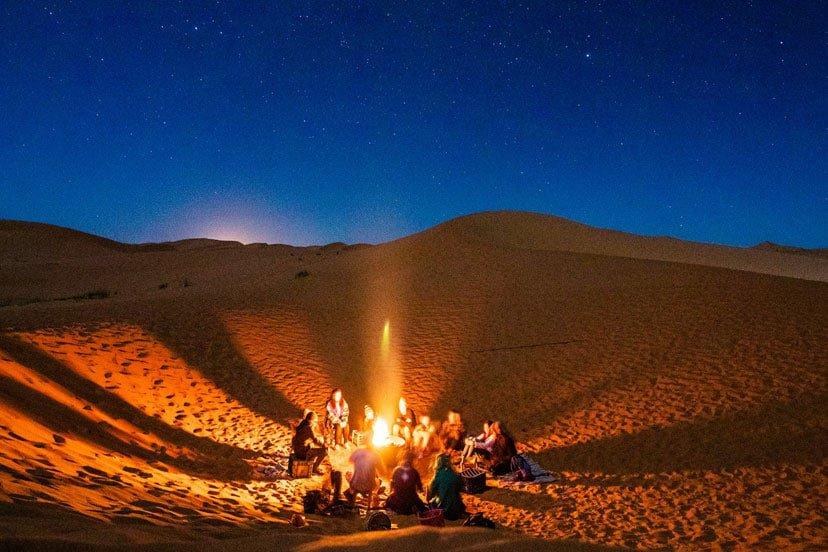 oman noć pustinja