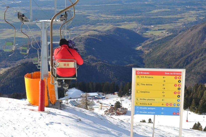 Skijanje, Krvavec