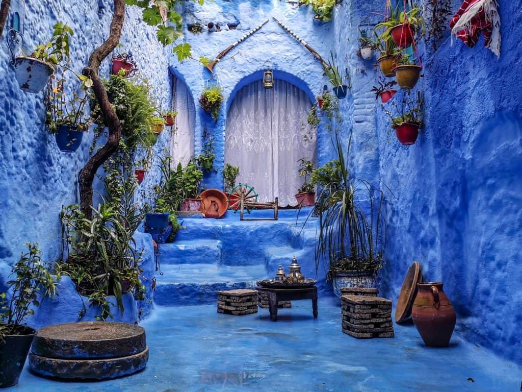potovalni ponedeljek maroko modro mesto