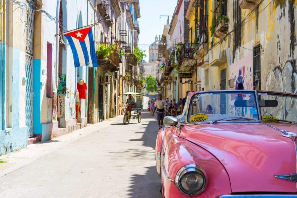 Kuba, avio karta
