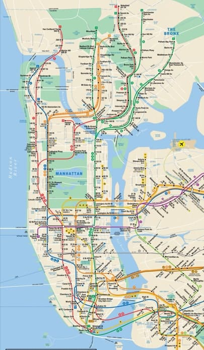 New York, karta