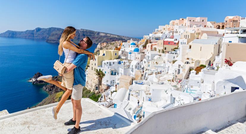 Putovanje za Valentinovo, Santorini, Grčka