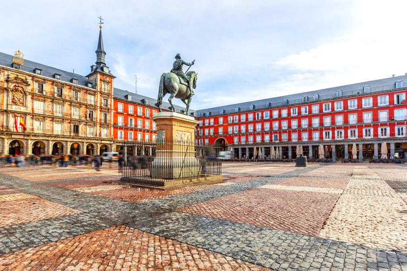 Putovanje u Madrid, Plaza Mayor