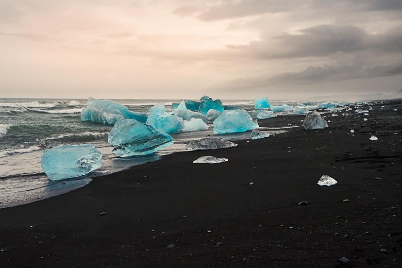 Island: Plaža Jökulsárlon