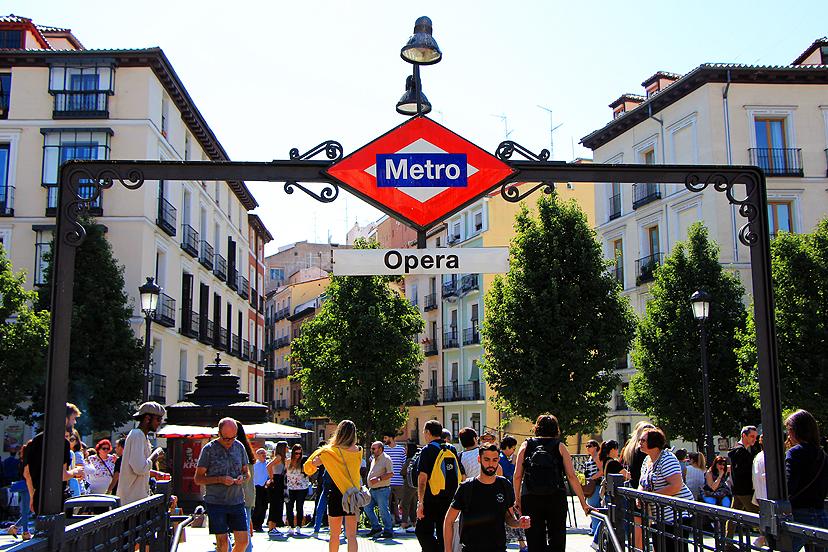 Putovanje u Madrid, metro