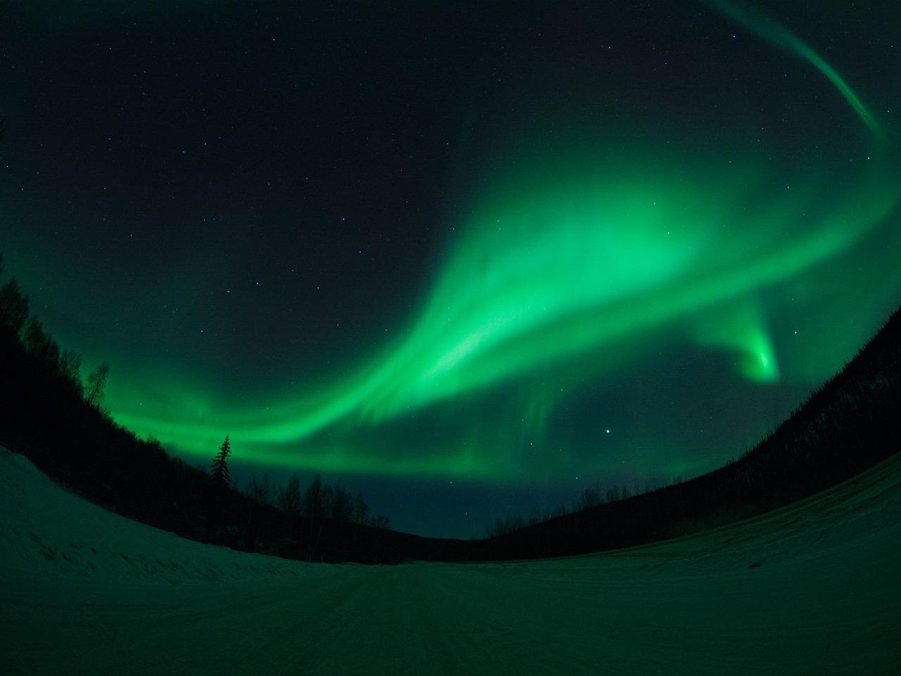 Fairbanks, Aljaska, aurora borealis