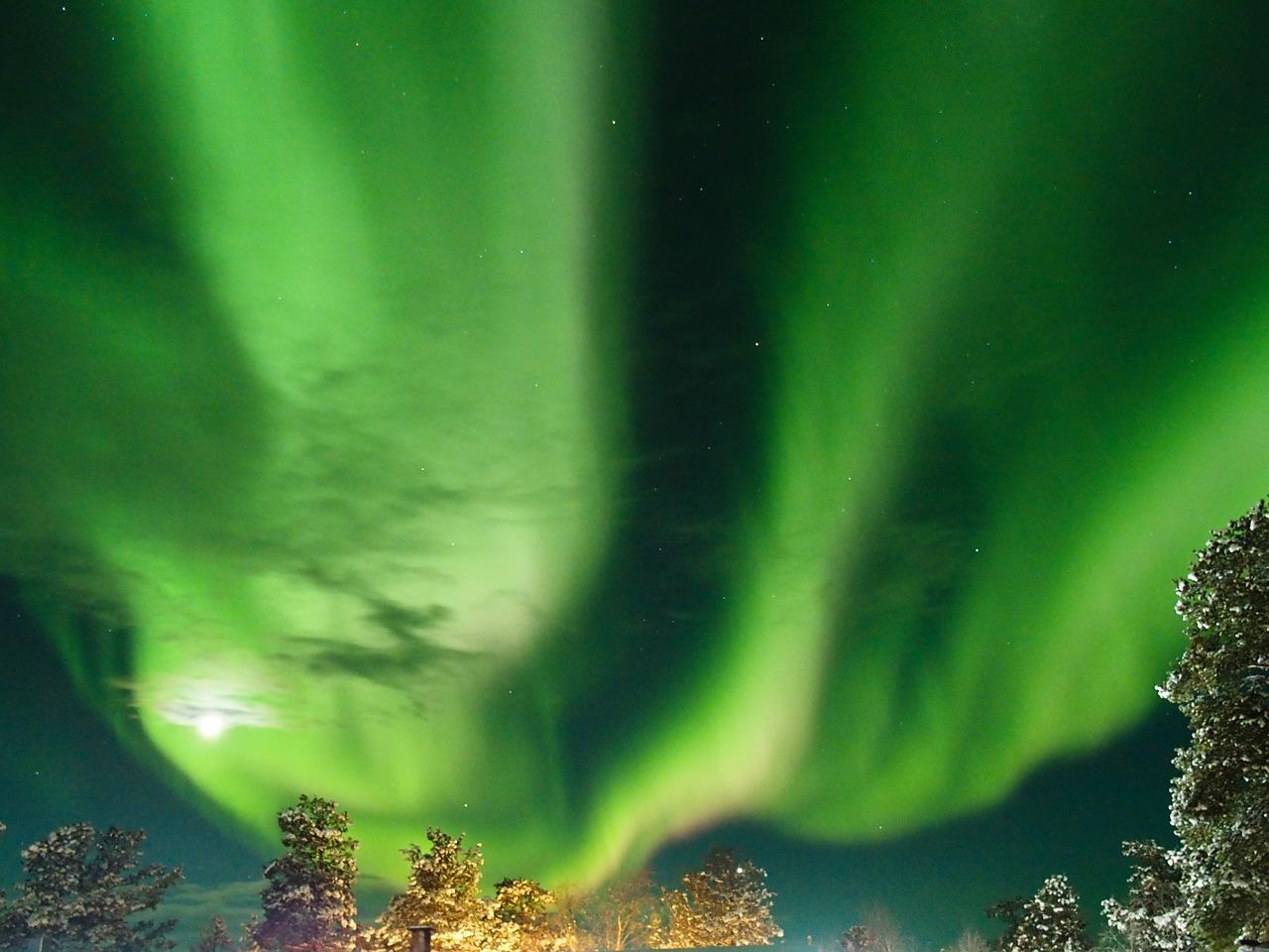 Inari, Finska, aurora borealis