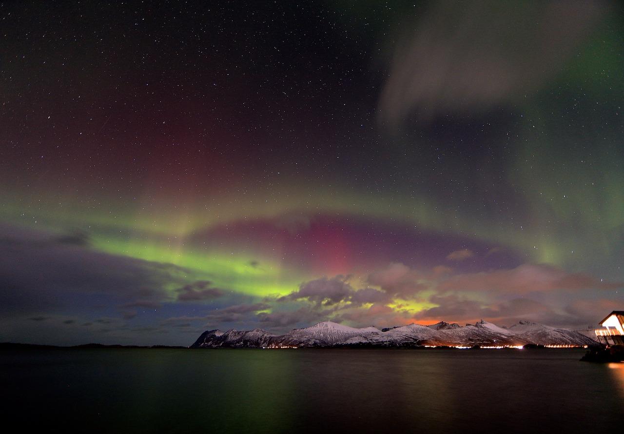 Tromsø, Norveška, aurora borealis