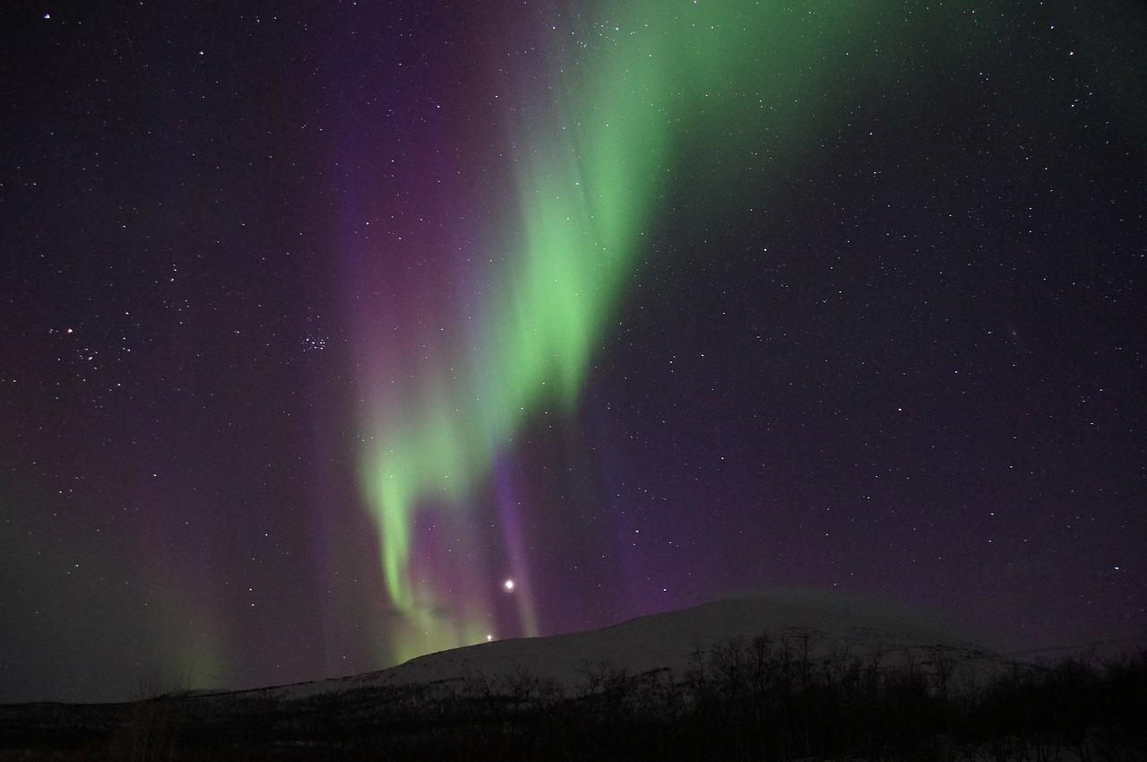 Abisko, Švedska, aurora borealis