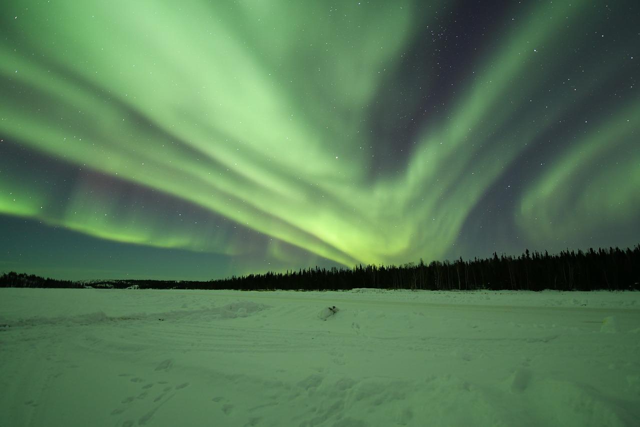 Yellowknife, Kanada, aurora borealis