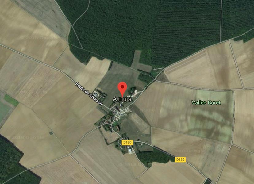 Neobična imena mjesta, Anus, Francuska