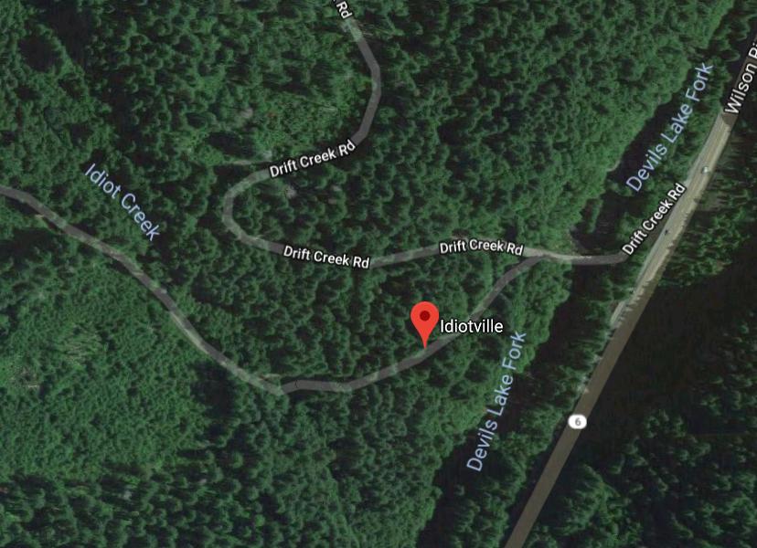 Neobična imena mjesta, Idiotville, Oregon