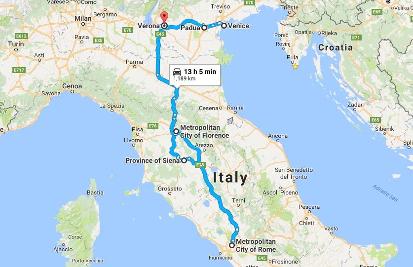 Vodic Italija Automobilom U Tjedan Dana Nomago Travel