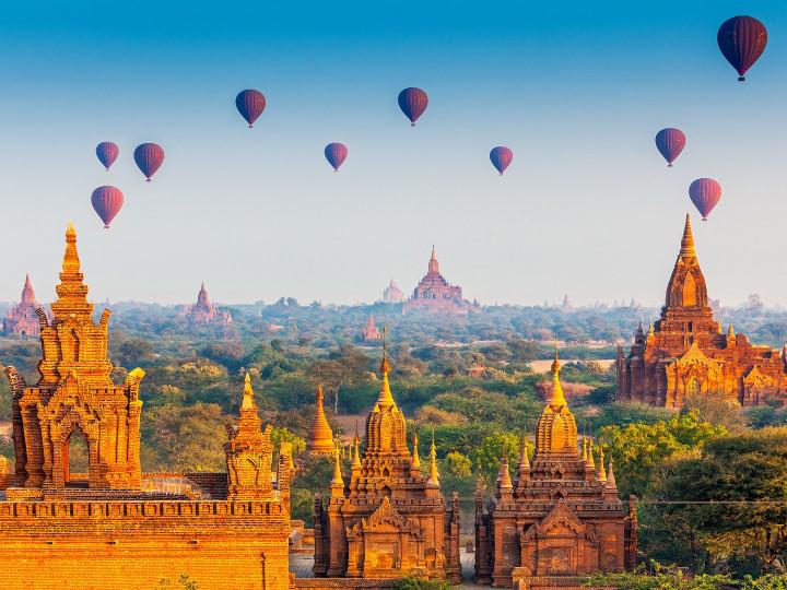 50 najljepših destinacija u Aziji, Bagan, Mjanmar