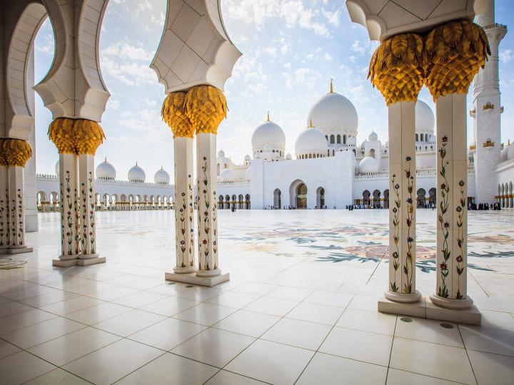 50 najljepših destinacija u Aziji, Mošeja Sheikh Zayed, Abu Dhabi, ZAE