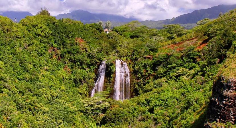 Havaji Opaeka falls