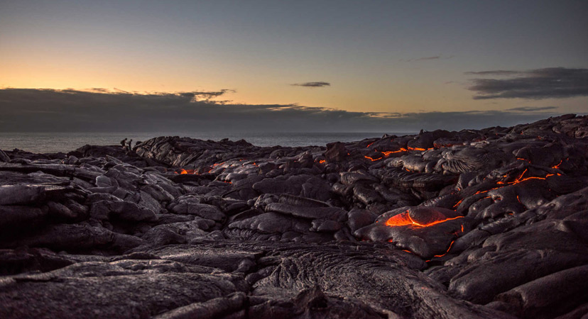 Havaji Kalapana lava